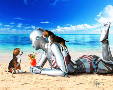 Angie Droid Goes on Vacation by Victor Bosson 2013