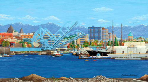LOOKING SOUTH TO THE BLUE BRIDGE by Barbara Weaver-Bosson