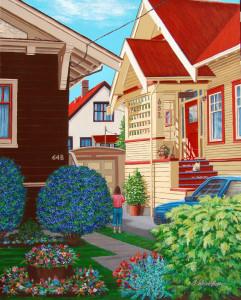 SUNNYSIDE acrylic painting by Barbara Weaver-Bosson