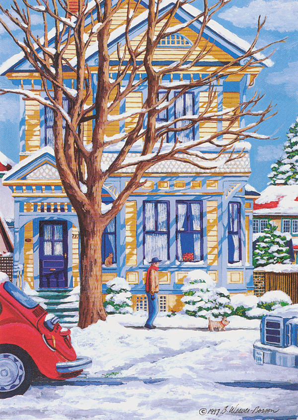 AND SOON THE SNOW BEGAN TO MELT Art Card Barbara Weaver-Bosson