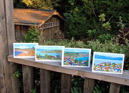 Barbara Weaver-Bosson art card display