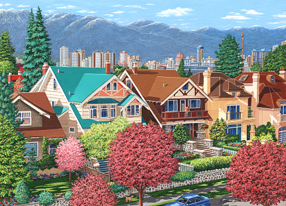 Kitsilano Houses, The West End, OCT6 Vancouver by Barbara Weaver-Bosson